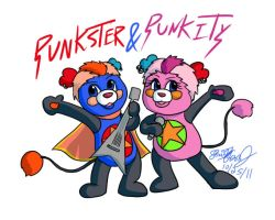 Punkster and Punkity by ninjapink