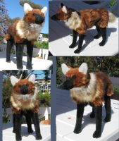 Maned Wolf Plush Toy by Jarahamee