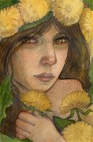 Girl who wears yellow flowers by WhimsicalMoon