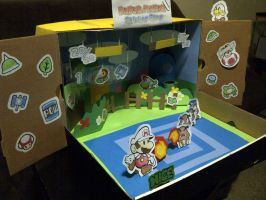 My Paper Mario Sticker Star Diorama Entry Leftside by Adrift107