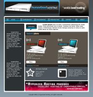 Hyperized Hosting web design by xnus-art