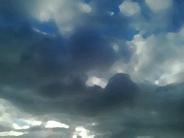 Photo Manipulation - Cold Clouds Go Over - Oil by Kay-March