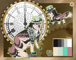 Time Wolf Adoptable  (auction) CLOSED by Belliko-art