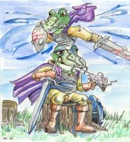 Frog Knight by foolyguy