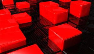 3D red cubes by ghafoormzai