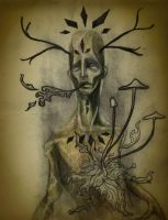 Decaying Deer Spirit Color by manfishinc