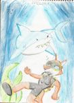 Swimming with sharks by CAPTAIN-CHETO