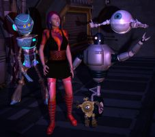 Roslyn and the Robots by silverexpress