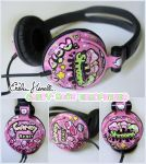 Candy-Rave Headphones by PeterPan-Syndrome