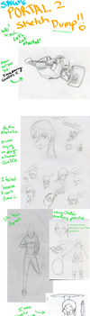 SketchDump- Portal (With Artist Commentary!) by SilverNinjaWolf