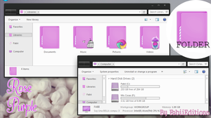 Rose Purple iconpackager theme by fabii27