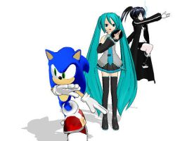 miku,sonic,brs by shadowthehedgehog109