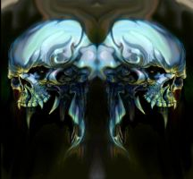 Skull siamese twin by angotti81