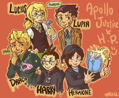 Apollo Justice x Harry Potter by Trillzey