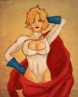 Power Girl 09 coloured by Andrew-ak-47