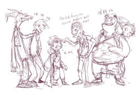 MLP:FiM dragons humanized by Audrarius