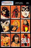 Women of Legend AP sketchcards for sale by RobertHack