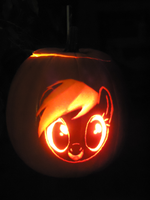 Rainbow Dash Pumpkin by Scoutaloo