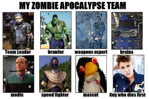 DW1's Zombie Apocalypse Team [Male] by DoctorWhoOne