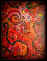 oldpaintingrevisited abstract bubbles n lines by santosam81
