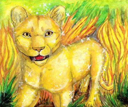 Golden lioness by kinglao16
