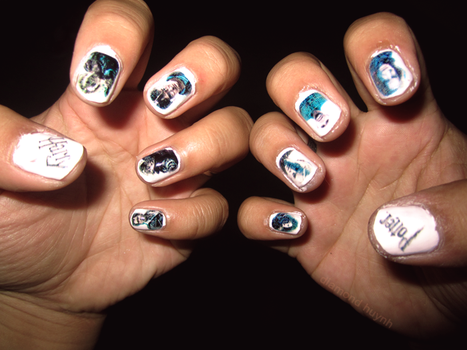 Harry Potter 7 Nails by dimeycakes