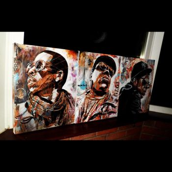 Jay Z and Biggy Smalls by artbydavidc