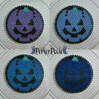 Pumpkin Coasters 3 by PerlerPixie
