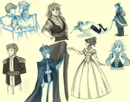 Frozen Rule 63 Sketchdump by pinkyapple