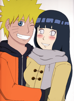 NaruHina New Year: Colored by OrchidAlex