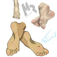 Feet Study by MeteorREB0RN