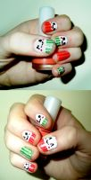 Kawaii Japanese Face Nails by RoxysSlushPuppie
