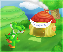 Welcome Little Yoshi [Comm. from Entin] by GreenYoshi25