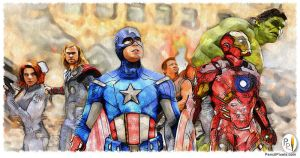 PencilPixels-Avengers by PencilComic