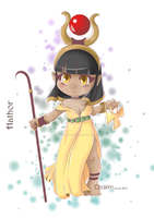 Goddess Hathor Chibi by ChairimArrais