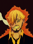 angry sanji by superandres123