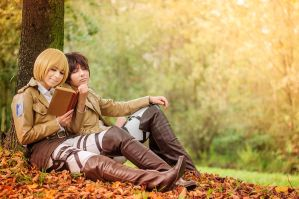 Eren x Armin - Little Break by MiwaChi