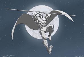 Draw Challenge 1: Moon Knight by warp-zero