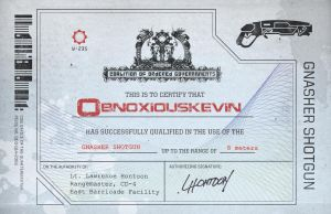 Gears of War 3 Gnasher Cert. by kailmanning