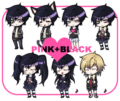:pinkblack-Sifris flele shell: by rann-poisoncage