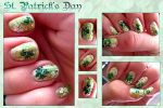 St Patrick's Day Nails by toku
