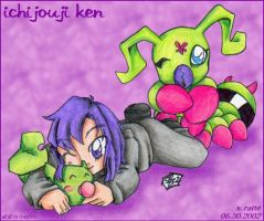 SD Ken Leafmon and Wormmon by StephRatte