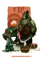 Ork Cook by gianlucaromano
