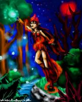 Red sorceress by Whisper-of-a-phoenix