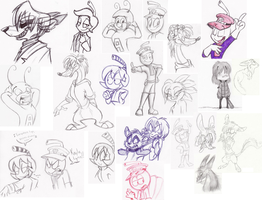 Nuther sketch dump part 2 by Skittle-Beans