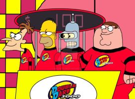 The 4 crazies on Double Dare 2000 by xXflameboyXx