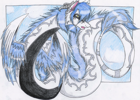 Out on thin Air by Featherwolf-Pluma