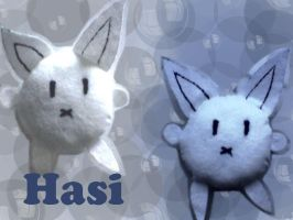 Rabbit Plushie Hasi for Schatz by lenneheartly