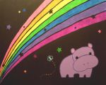 Ieva.;) - Page 3 Hippo_and_rainbow_by_AmberDorkface