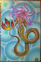Mermaid mosaic by Priscillascreations